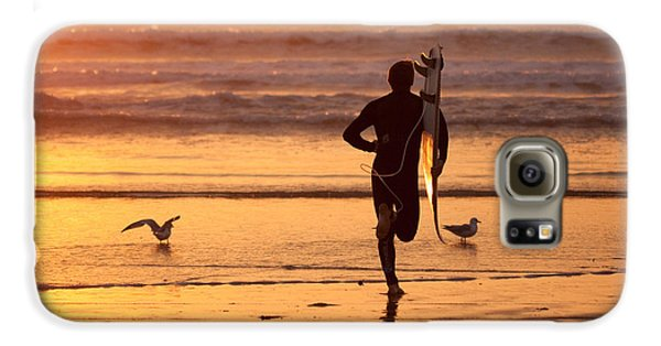 Galaxy S6 Case featuring the photograph Running To Surf by Nathan Rupert