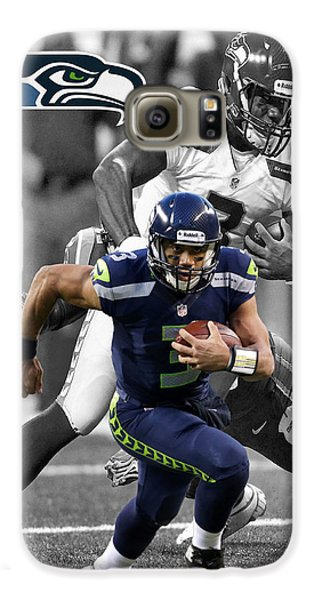 Russell Wilson Seahawks Galaxy S6 Case by Joe Hamilton