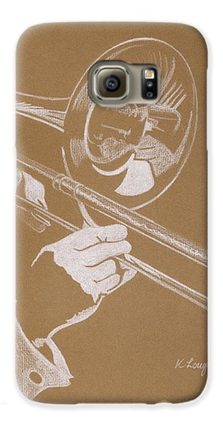 Trombone Galaxy S6 Case - Sacred Trombone by Karen  Loughridge KLArt