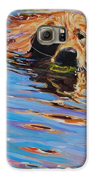 Dog Galaxy S6 Case - Sadie Has A Ball by Molly Poole