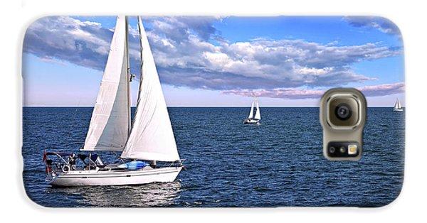Sailboats At Sea Galaxy S6 Case