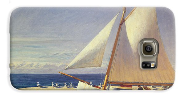 Sailing Boat Galaxy S6 Case by Edward Hopper