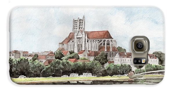 Galaxy S6 Case featuring the painting Saint-etienne A Auxerre by Marc Philippe Joly