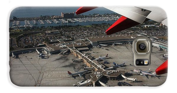 San Diego Airport Plane Wheel Galaxy S6 Case by Nathan Rupert