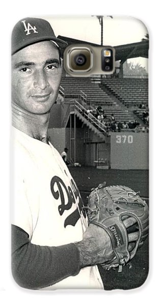 Los Angeles Dodgers Galaxy S6 Case - Sandy Koufax Photo Portrait by Gianfranco Weiss