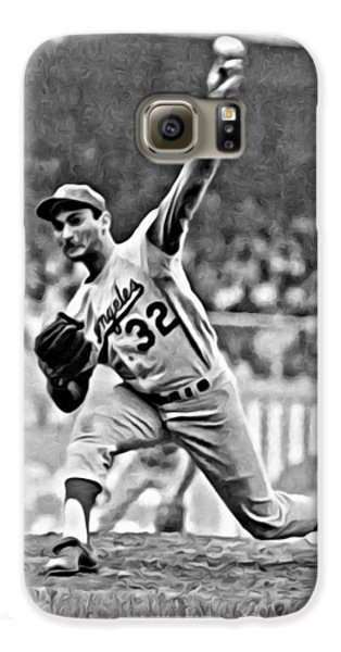 Los Angeles Dodgers Galaxy S6 Case - Sandy Koufax Throwing The Ball by Florian Rodarte