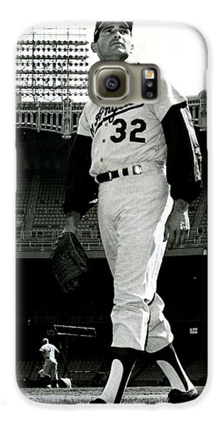 Sandy Koufax Vintage Baseball Poster Galaxy S6 Case