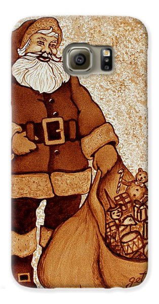 Galaxy S6 Case featuring the painting Santa Claus Bag by Georgeta  Blanaru