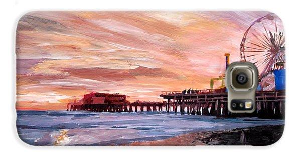 Santa Monica Galaxy S6 Case - Santa Monica Pier At Sunset by M Bleichner