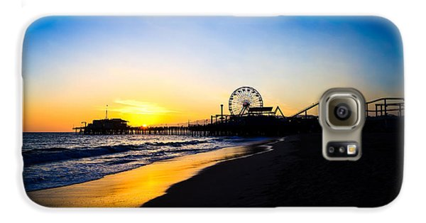 Santa Monica Pier Pacific Ocean Sunset Galaxy S6 Case by Paul Velgos