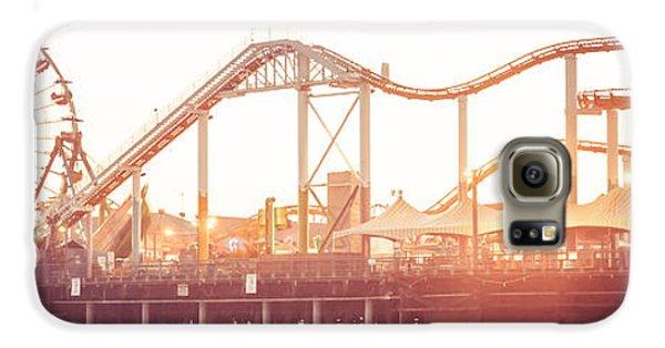 Santa Monica Pier Roller Coaster Panorama Photo Galaxy S6 Case
