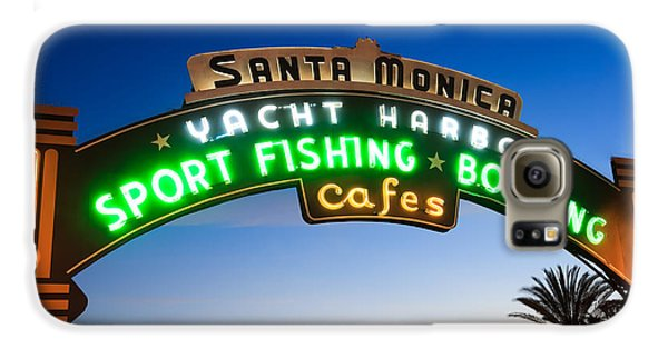 Santa Monica Pier Sign Galaxy S6 Case by Paul Velgos