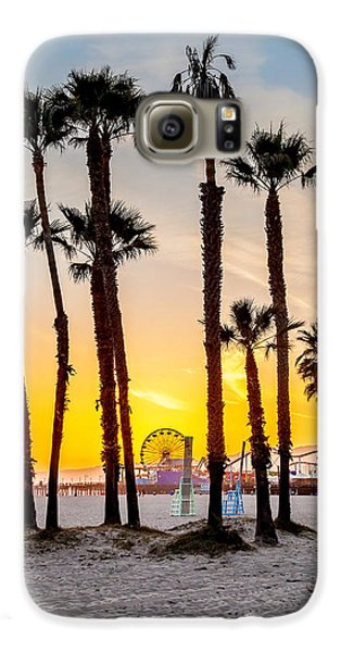 Santa Monica Sunset 2 Galaxy S6 Case by Az Jackson