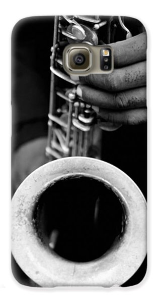 Galaxy S6 Case featuring the photograph Sax Player by Dave Beckerman