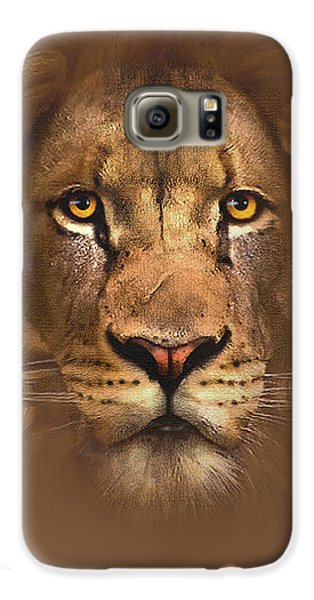 Lion Galaxy S6 Case - Scarface Lion by Robert Foster