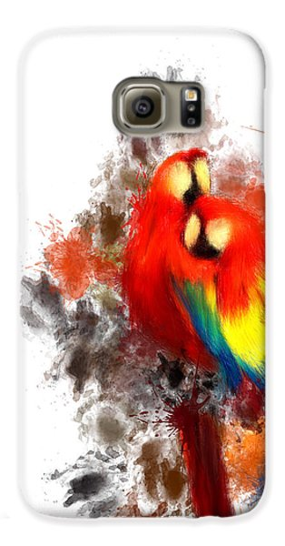 Scarlet Macaw Galaxy S6 Case by Lourry Legarde