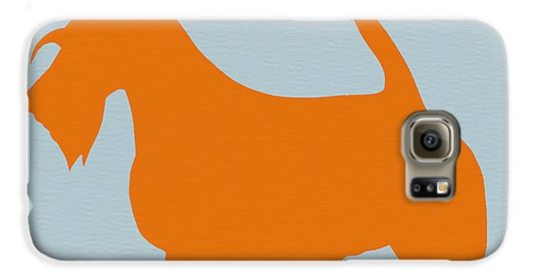 Dog Galaxy S6 Case - Scottish Terrier Orange by Naxart Studio