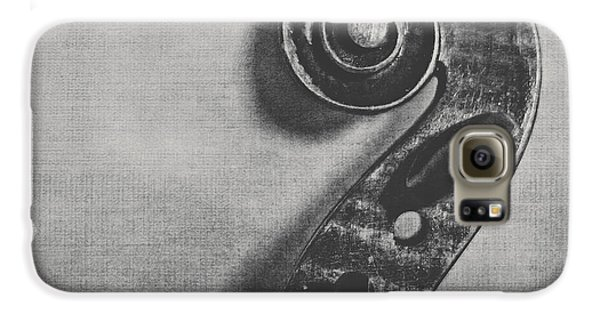 Violin Galaxy S6 Case - Scroll In Black And White by Emily Kay