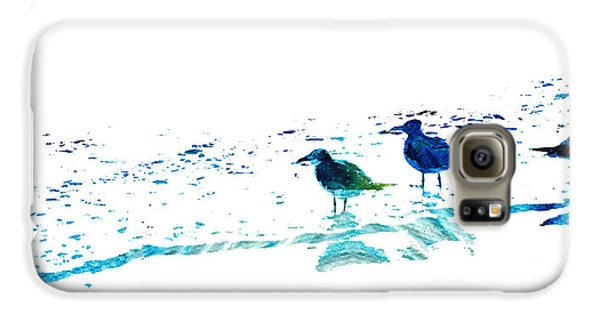 Seagull Art - On The Shore - By Sharon Cummings Galaxy S6 Case by Sharon Cummings