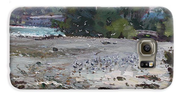 Seagull Galaxy S6 Case - Seagulls On Niagara River by Ylli Haruni