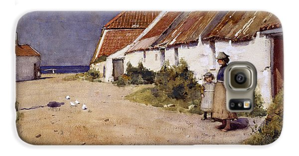 Seaside Cottages With Dovecot Galaxy S6 Case by Edward Arthur Walton