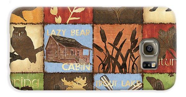 Trout Galaxy S6 Case - Seasons Lodge by Debbie DeWitt