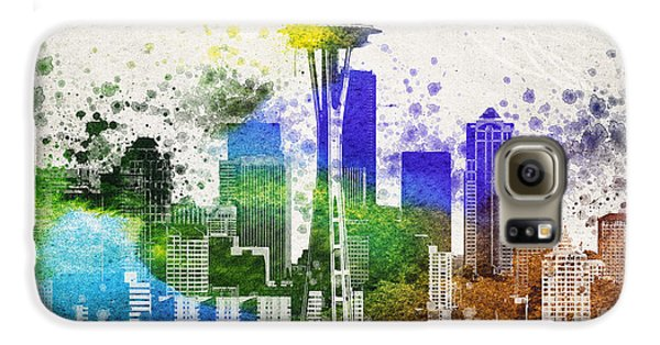 Seattle City Skyline Galaxy S6 Case by Aged Pixel