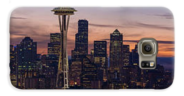 Seattle Cityscape Morning Light Galaxy S6 Case by Mike Reid