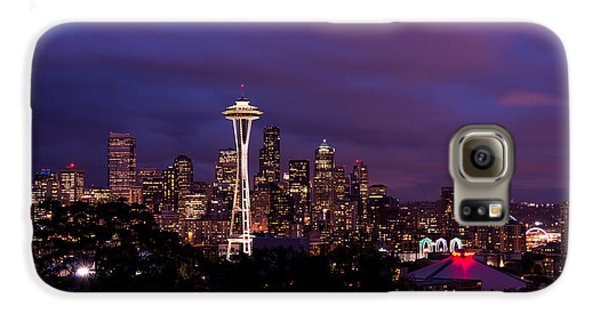 Seattle Night Galaxy S6 Case by Chad Dutson