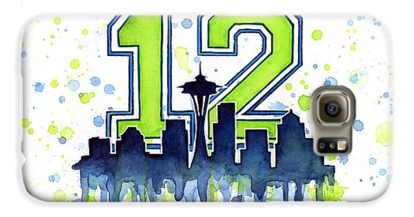 Seattle Seahawks 12th Man Art Galaxy S6 Case by Olga Shvartsur