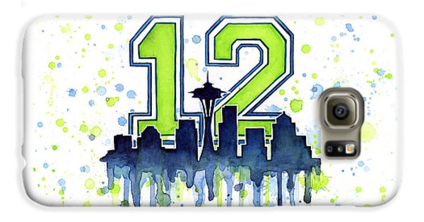 Seattle Seahawks 12th Man Art Galaxy S6 Case