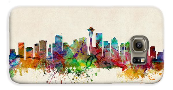 Seattle Washington Skyline Galaxy S6 Case by Michael Tompsett