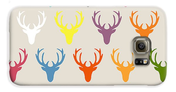 Seaview Simple Deer Heads Galaxy S6 Case by Sharon Turner