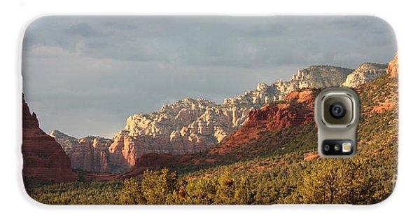 Desert Galaxy S6 Case - Sedona Sunshine Panorama by Carol Groenen