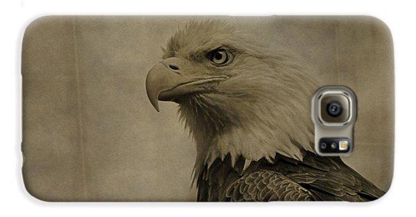 Sepia Bald Eagle Portrait Galaxy S6 Case by Dan Sproul