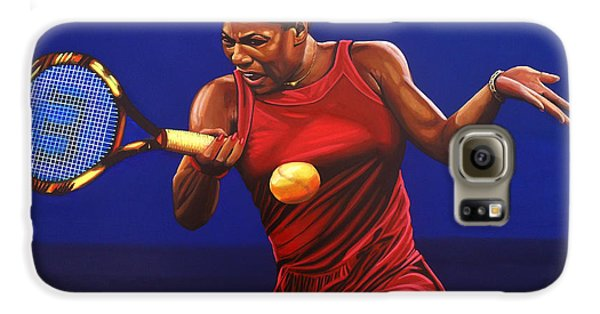 Serena Williams Painting Galaxy S6 Case by Paul Meijering