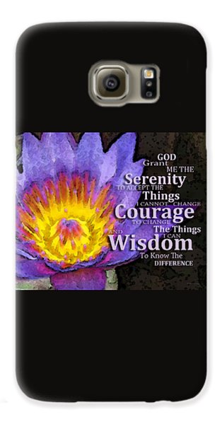 Serenity Prayer With Lotus Flower By Sharon Cummings Galaxy S6 Case