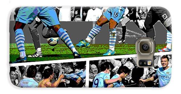 City Galaxy S6 Case - Sergio Aguero Goal Vs Qpr by Pro Prints