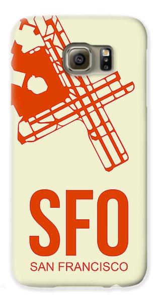 Travel Galaxy S6 Case - Sfo San Francisco Airport Poster 1 by Naxart Studio