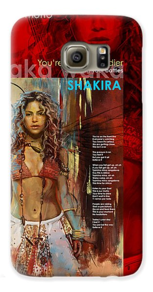 Shakira Art Poster Galaxy S6 Case by Corporate Art Task Force