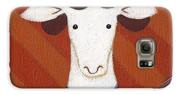 Sheep Galaxy S6 Case - Sheep Guitar by Christy Beckwith