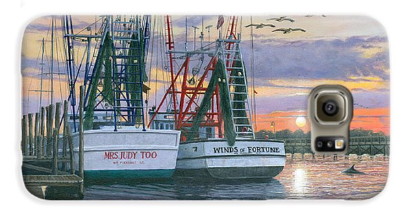 Pelican Galaxy S6 Case - Shem Creek Shrimpers Charleston  by Richard Harpum