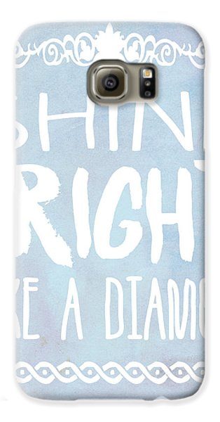 Shine Bright Blue Galaxy S6 Case by Pati Photography