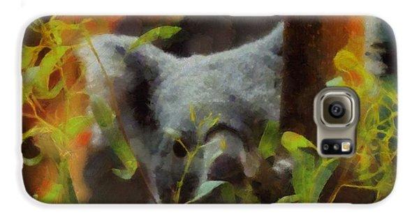 Shy Koala Galaxy S6 Case by Dan Sproul