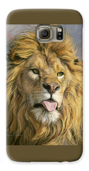 Lion Galaxy S6 Case - Silly Face by Lucie Bilodeau