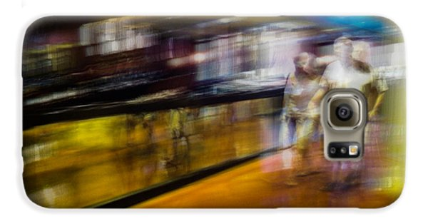 Galaxy S6 Case featuring the photograph Silver People In A Golden World by Alex Lapidus