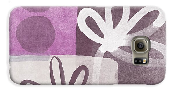 Orchid Galaxy S6 Case - Simple Flowers- Contemporary Painting by Linda Woods
