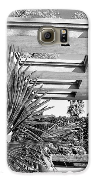 Sinatra Patio Bw Palm Springs Galaxy S6 Case
