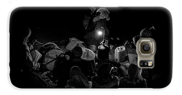 Drum Galaxy S6 Case - Singing To The Night by Angel Bernaldo De