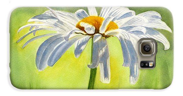Single White Daisy Blossom Galaxy S6 Case by Sharon Freeman